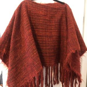 Jackets & Blazers - Beautiful wool brick Red poncho